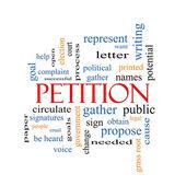 Petition Word Cloud Concept — Photo