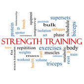 Strength Training Word Cloud Concept — Stock Photo