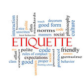 Etiquette Word Cloud Concept — Stock Photo