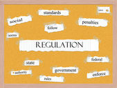Regulation Corkboard Word Concept — Stock Photo