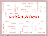 Regulation Word Cloud Concept on a Whiteboard — Stock Photo