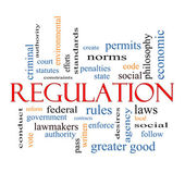 Regulation Word Cloud Concept — Stock Photo