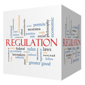 Regulation 3D cube Word Cloud Concept — Stock Photo