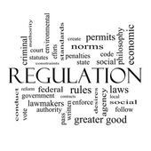 Regulation Word Cloud Concept in black and white — Stock Photo