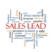 Sales Lead Word Cloud Concept — Stock Photo