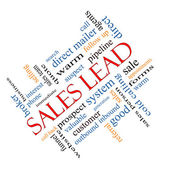 Sales Lead Word Cloud Concept Angled — Stock Photo