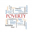 Poverty Word Cloud Concept — Stock Photo #43276603