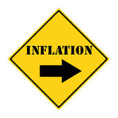 Inflation that way Sign — 图库照片