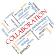 Collaboration Word Cloud Concept Angled — Stock Photo #43346929