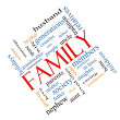 Family Word Cloud Concept Angled — Stock Photo