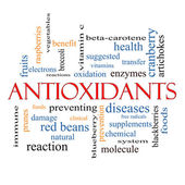 Antioxidants Word Cloud Concept — Stock Photo