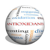Antioxidants 3D sphere Word Cloud Concept — Stock Photo