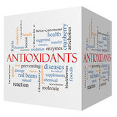 Antioxidants 3D cube Word Cloud Concept — Stock Photo