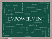 Empowerment Word Cloud Concept on a Blackboard — Stockfoto