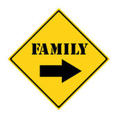 Family that way Sign — Stockfoto