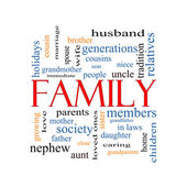 Family Word Cloud Concept — Stock Photo