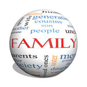Family 3D sphere Word Cloud Concept — Stock Photo