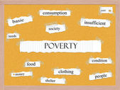 Poverty Corkboard Word Concept — Stock Photo