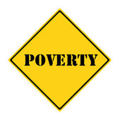Poverty Sign — 图库照片