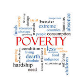 Poverty Word Cloud Concept — Stock Photo