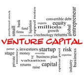 Venture Capital Word Cloud Concept in red caps — Stock Photo