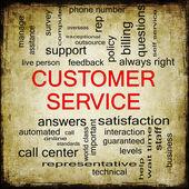 Customer Service Grunge Word Cloud — Stock Photo