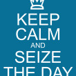 Постер, плакат: Keep Calm and Seize the Day