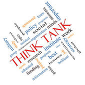Think Tank Word Cloud Concept Angled — Stock Photo
