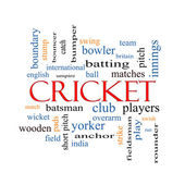 Cricket Word Cloud Concept — Stock Photo