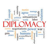 Diplomacy Word Cloud Concept — Stock Photo