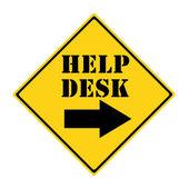 Yol işareti danışma yardım — Stok fotoğraf