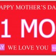 Number One Mom Mother's Day Plate — Stock Photo