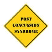 Commotion cérébrale syndrome affiche — Photo