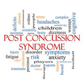 Post Concussion Syndrome Word Cloud Concept — Stock Photo