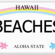 Beaches Hawaii License Plate — Stock Photo #44409057