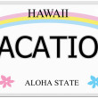 Vacation Hawaii License Plate — Stock Photo #44409143