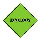 Ecology Sign — Stock Photo