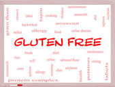 Gluten Free Word Cloud Concept on a Whiteboard — Stockfoto