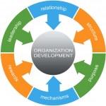 Organization Development Word Circles Concept — Stock Photo #44639099