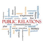 Public Relations Word Cloud Concept — Stock Photo