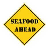 Seafood Ahead Sign — Stock Photo