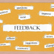 Feedback Corkboard Word Concept — Stock Photo