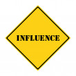 Influence Sign — Stock Photo