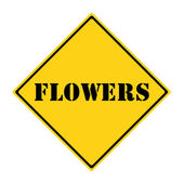 Flowers Sign — Stock Photo