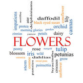 Flowers Word Cloud Concept — Stock Photo