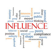 Influence Word Cloud Concept — Stock Photo