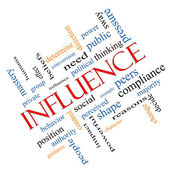 Influence Word Cloud Concept Angled — Stock Photo
