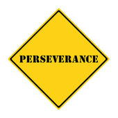Perseverance Sign — Stock Photo