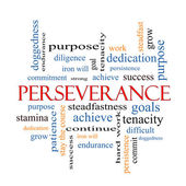 Perseverance Word Cloud Concept — Stock Photo