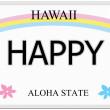 Happy Hawaii License Plate — Stock Photo #44784617